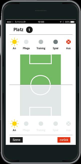 Lichtsteuerung durch unsere App