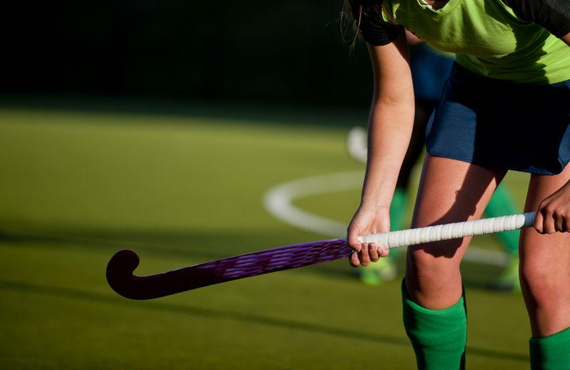 Spielerin auf dem Hockeyfeld