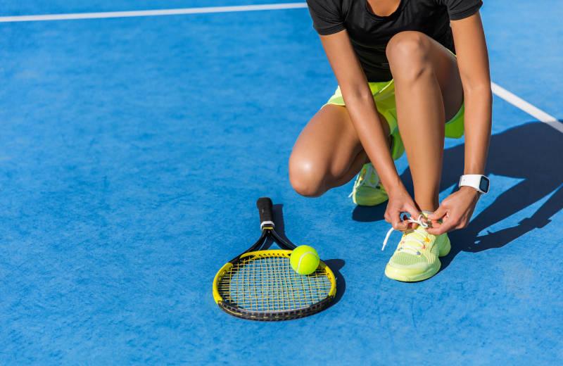 Spielerin auf dem Tennisplatz